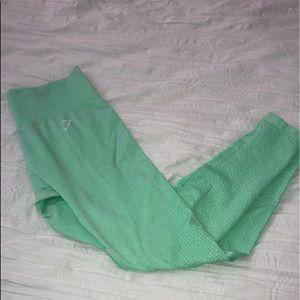 Gymshark pistachio vital seamless leggings